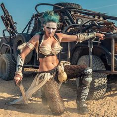 This gal is from one of the Road Warrior reenactments. I'm a big Mad Max fan, by the way!