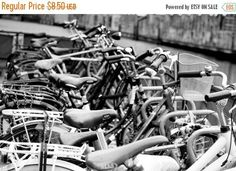 SALE Bicycle Photography Download Amsterdam Bicycle Art Poster