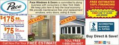 Pace Windows and Doors with window sales and window upgrades for Rochester, NY! Free estimates and 100% Financing!