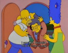 The Simpsons Simpsons Quotes, Simpsons Cartoon, Simpsons Characters, Goat Cartoon, Cartoon Art, Homer Simpson, Lisa Simpson, Mrs Doubtfire, Funny Signs