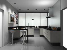 Cozinha em Melamínico Lino Bianco. 1