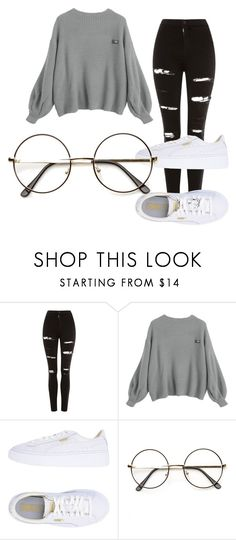 """""""jjkhkj"""" by alessiabazzurro on Polyvore featuring Topshop and Puma"""