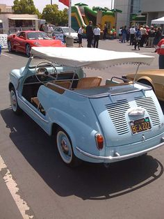 vintage Fiat 500 beach car..Perfect for tooling around Newport Beach