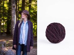 """Bannock textured robe cardigan by Norah Gaughan. Shown in color """"Hematite"""". From Brooklyn Tweed's """"Fall Collection. Photographed by Jared Flood. Knitting Ideas, Knitting Patterns, Crochet Patron, Brooklyn Tweed, Work Flats, Sleeve Designs, Stitch Patterns, Autumn Fashion, Hair Styles"""