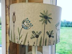 I love this seed head free motion embroidery lamp shade by Tigley Textiles, isn't it fab?