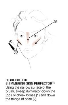 Highlighter/Shimmer HOW TO courtesy of #BECCA The One Perfecting Brush. #Sephora