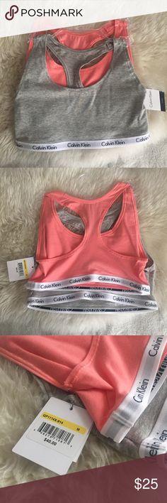 CK Bralette 2 Piece Brand New! Retails $40   Perfect For Spring/Summer   Comfy & Stretchy Calvin Klein Intimates & Sleepwear Bras
