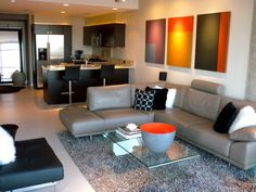 High Rise Project- Living Room by BoConcept San Diego