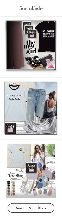 """""""SantalSide"""" by k-lole ❤ liked on Polyvore featuring TIBI, J Brand, adidas Originals, Giorgio Armani, Marc Jacobs, country and Topshop"""