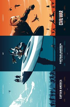 Captain America Trilogy Posters
