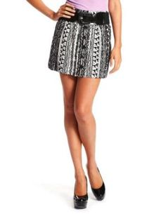 Charlotte Russe - Belted Button Front Skirt