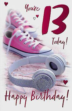 Teenage Birthday Wishes, Happy Birthday Teenager, 13th Birthday Wishes, 13th Birthday Boys, Happy Birthday Floral, Happy Birthday Niece, Old Birthday Cards, Birthday Girl Quotes, Birthday Wishes For Friend