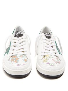 Ball Star low-top floral-print leather trainers | Golden Goose Deluxe Brand | MATCHESFASHION.COM US