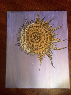 Live by the sun love by the moon  canvas painting by CreationsByCnC,