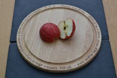 Personalised wooden chopping board with your own message engraved around the edge by CoveCalligraphy, £19.50