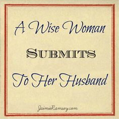 When a woman submits to her husband in a godly manner, a LOT of good can come from it!