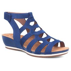 The gladiator sandal gets a sporty makeover. Backstrap is adjustable with hook and loop closure. Shop HappyFeet.com for the best service!