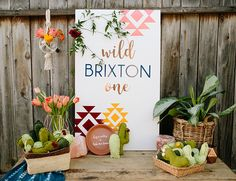 Southwestern Cactus First Birthday Party - Inspired By This