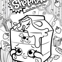 Desenho de Shopkins leite para colorir