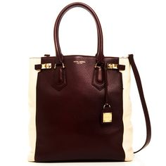 The Carlyle Block Tote Burgundy