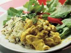 Hedelmäinen broileri-currykastike Risotto, Curry, Food And Drink, Chicken, Meat, Koti, Ethnic Recipes, Curries, Buffalo Chicken