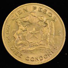 Numismática: Moeda de Ouro, República do Chile, Valor 1..