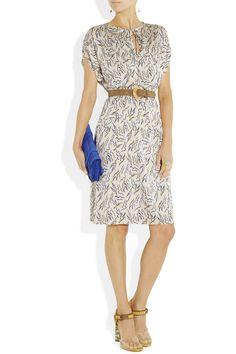 Tucker Printed silk-blend georgette dress NET-A-PORTER.COM