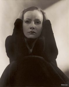 """Greta Garbo(1928) by Edward Steichen.  """"Anyone who has a continuous smile on his face conceals a toughness that is almost frightening."""""""