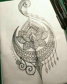 Tattoo lotus henna, lotusbloemmandala tattoo, mandala art, henna mehndi, me Future Tattoos, New Tattoos, Body Art Tattoos, Mandalas Painting, Mandalas Drawing, Mandala Artwork, Henna Mehndi, Henna Art, Art Lotus