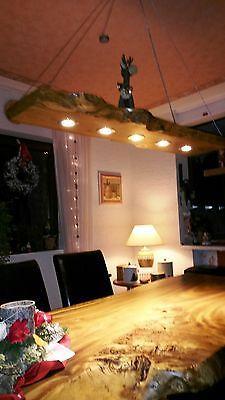 LED 60cm - 120 cm Massivholz Eichen Esstischlampe 7W Decken Lampe Holz Natur