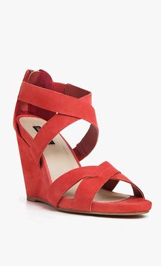 Criss Cross Wedges - perfect color for summer