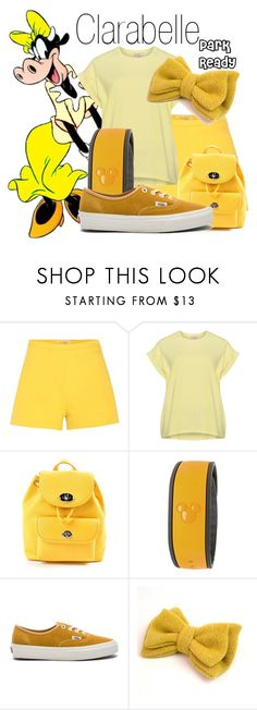"""""""Clarabelle~ DisneyBound"""" by basic-disney ❤ liked on Polyvore featuring Giambattista Valli, Coach, Disney, Vans and Catherine Tough"""