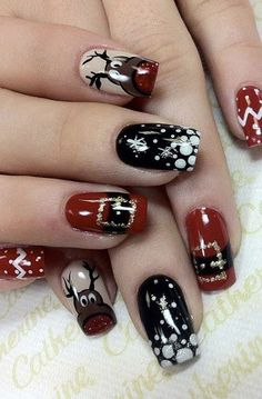 Top 10 CHRISTMAS Nail Ideas Try it Now