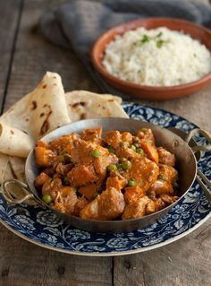 butter chicken with basmati rice and roti's from Dish Food & Social