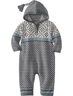 Snow In Stockholm Sweater Romper via Hanna Andersson. And I die from the cuteness. Baby Girl Fashion, Toddler Fashion, Kids Fashion, Knitting For Kids, Baby Knitting, Gents Fashion, Hanna Andersson, Kids Wear, Little Babies