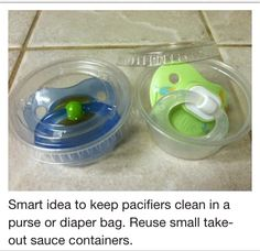 Keep Your Baby's Pacifiers Germ Free When Traveling :)