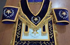 MASONIC REGALIA GRAND PATRON APRON SET COLLAR & CUFF'S MATCHING PURPLE