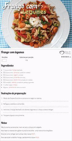 Frango com legumes - Blog da Mimis - Prato cheio: receita especial dá saciedade e emagrece.