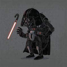 Old Darth Vader #famousoldies