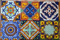 12 Mexican Talavera Tiles handmade Hand painted 4 by MexicanTiles