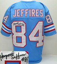 8ebe0a5f4 Haywood Jeffires Signed Autographed Houston Oilers Custom Throwback Jersey  JSA .  139.00. Featured is