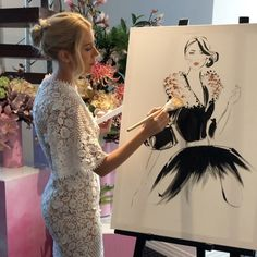 Lost in the moment today! 🖤 Painting live on International Womens Day. Kerrie Hess, Fashion Project, Fashion Illustrations, Happy Valentines Day, Ice Cream, Pastel, Lost, Formal Dresses, Friends