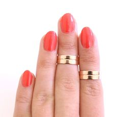 2 Rose Gold Cuff Knuckle Rings   Galisfly