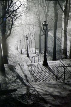 Brassaï, Escaliers de Montmartre, 1936