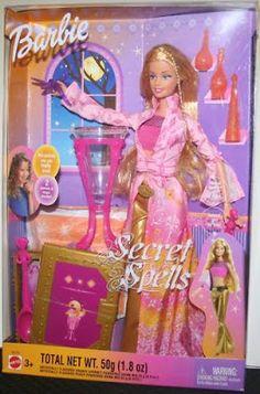 Catalogo de Barbie Online: Barbie hechizos mágicos (secret spells, charm girls). 2003. Play line.