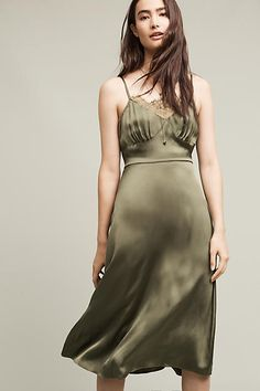 Tracy Reese Olive Slip Dress