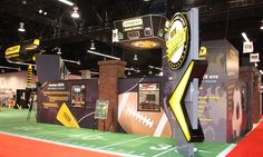 Stanley S 60x100B | Awesome football theme trade show booth with a 360 custom design.