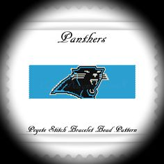 For all the Carolina PANTHERS fans!  THIS PDF Bead Pattern INCLUDES THE FOLLOWING:  1. A bead legend (bead numbers and colors needed) 2. The pattern design 3. A large, detailed, numbered graph of the