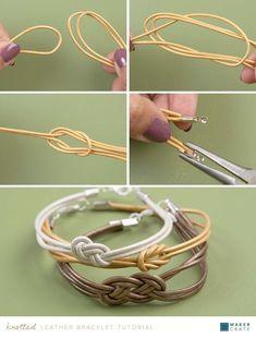 Geknotetes Lederarmband Geknotetes Armband-Tutorial Source by personalizedbracelets Diy Bracelets With Thread, Diy Bracelets Easy, Knot Bracelets, Diy Bracelets Tutorial, Silver Bracelets, Diy Friendship Bracelets Tutorial, Silver Ring, Making Bracelets, Couple Bracelets