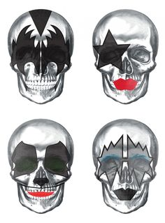 Pigmento Design presents: Skulls Inspired by the rock band KISS
